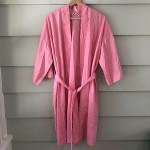Vintage Loungees Pretty Pink Kimono Waist Tie Robe